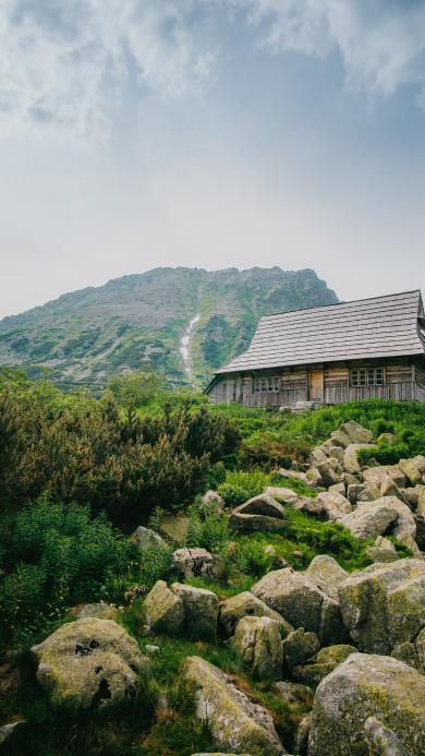 岩石 石块 房屋 郊外
