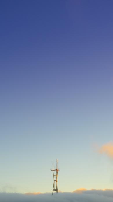 建筑 钢架 钢筋 高空 云层