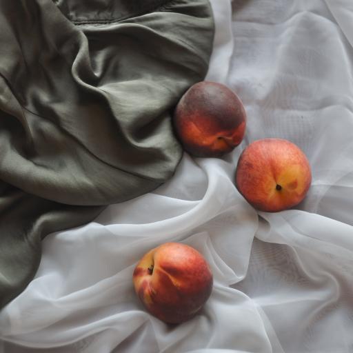 水果 油桃 桃子 丝巾
