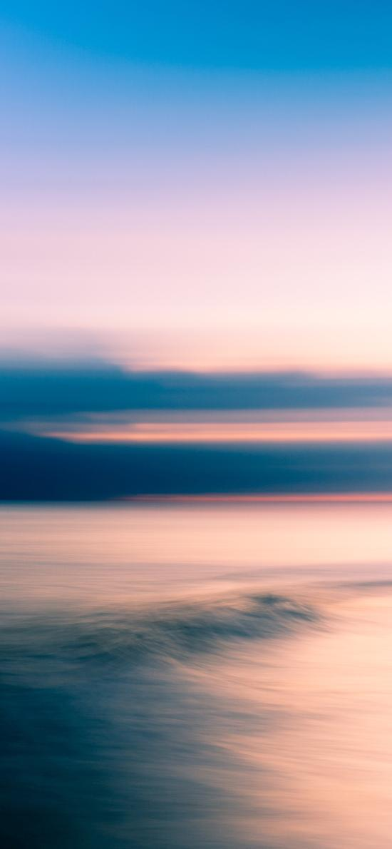 渐变 海天一线 黄昏 海平面