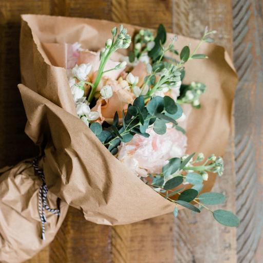 花束 鲜花 包扎 鲜花 尤加利