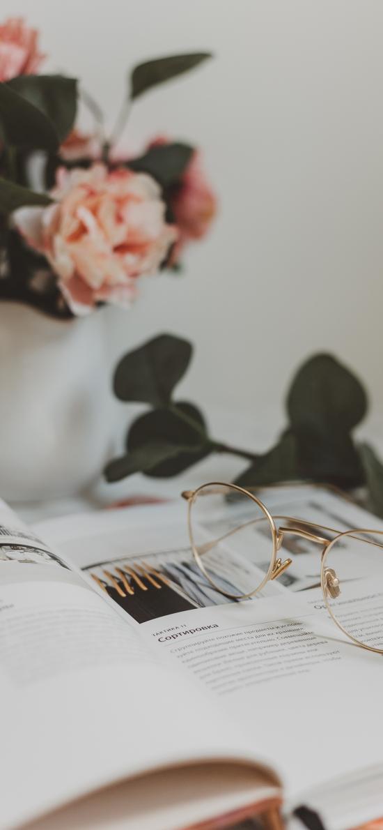 静物 书籍 眼镜 书本