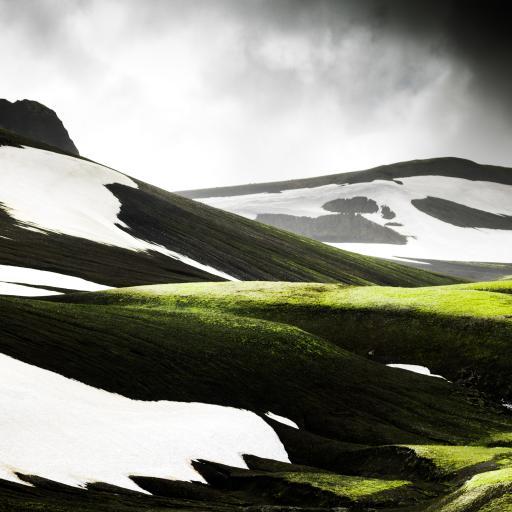 山峰 自然 白雪 覆盖