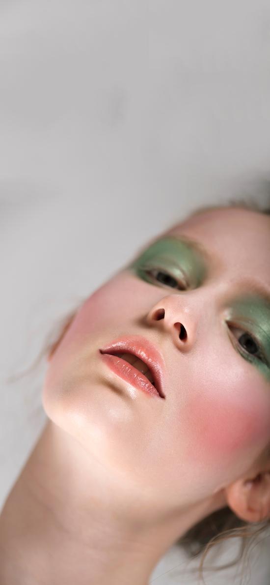 欧美 模特 妆容 眼影 写真