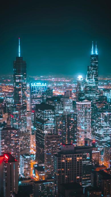夜景 城市 灯光 璀璨