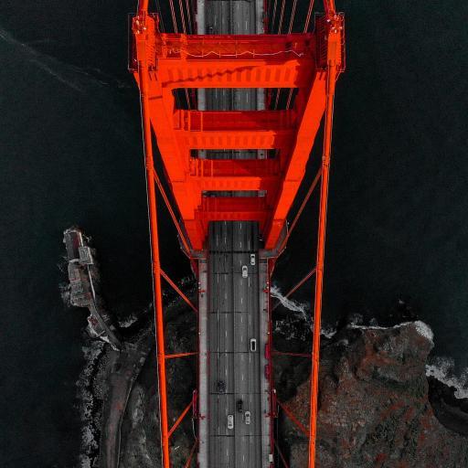 美国 金山大桥 桥梁 车辆