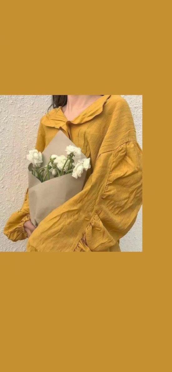 色彩 黄色 姜黄 衣服 花束