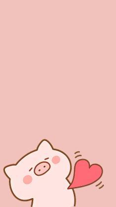 猪 粉色 爱心 可爱