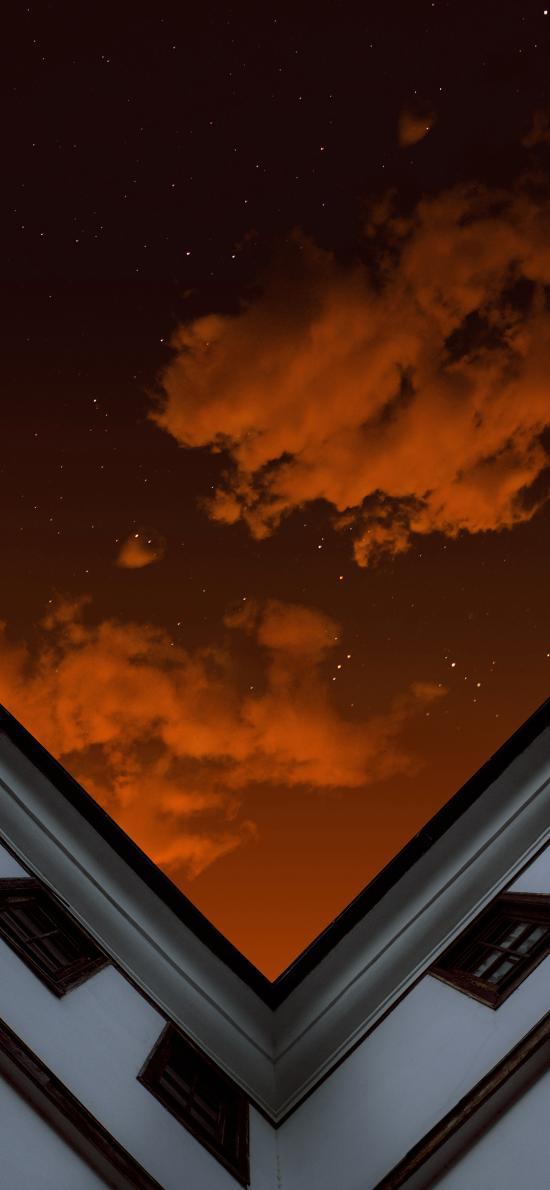 建筑 高楼 天空 星空夜景