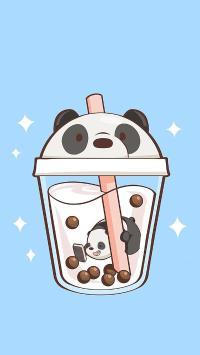珍珠 奶茶 熊猫 趣味 可爱