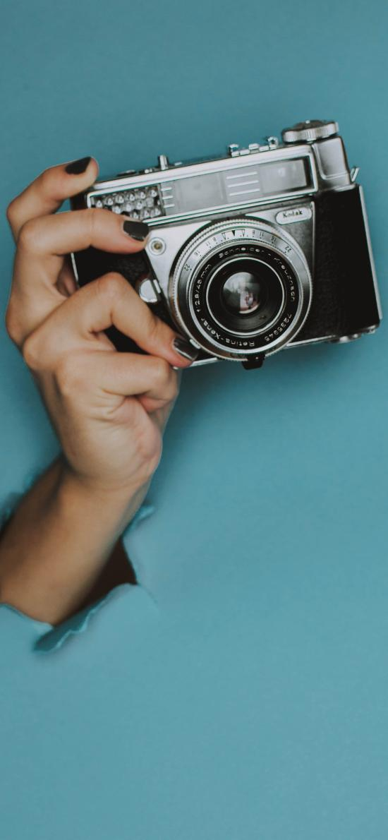 数码 相机 摄影 手