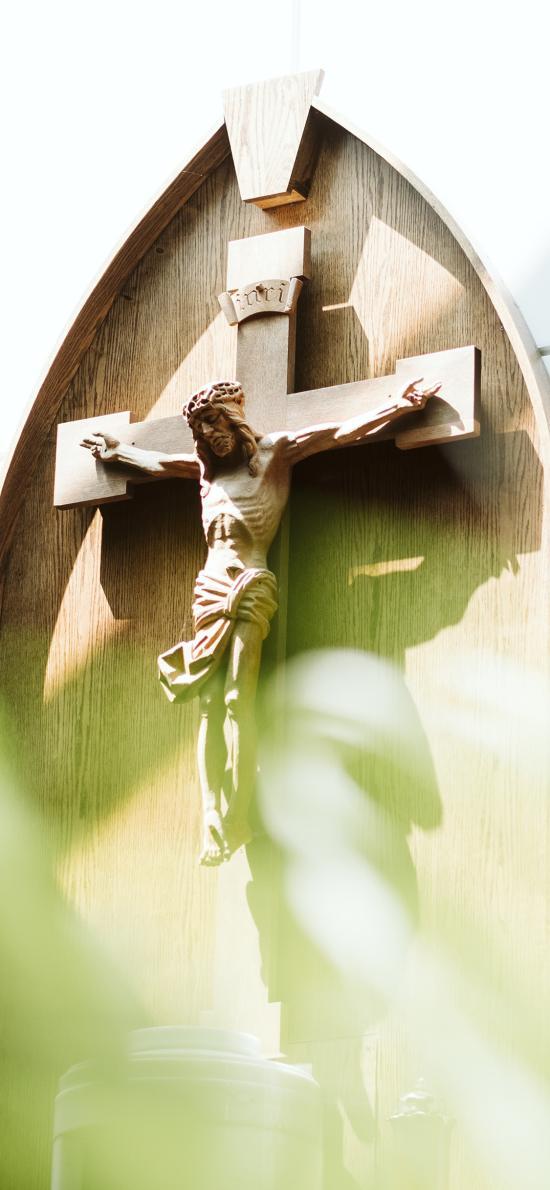 神像 耶稣 十字架 信仰