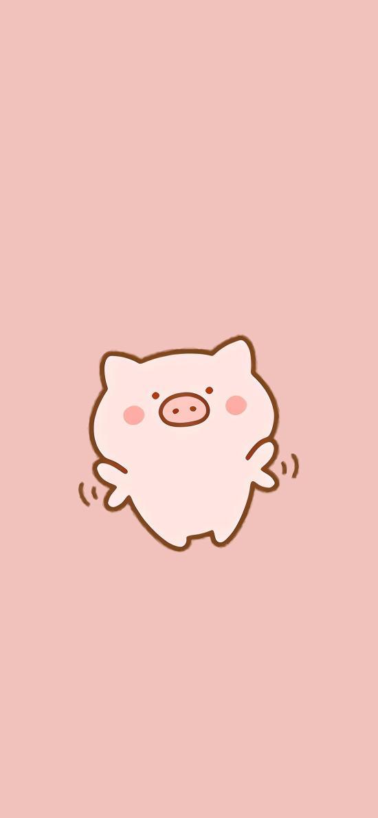 猪 可爱 粉色 起飞