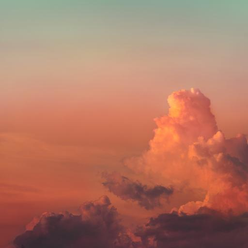 云彩 日落 黄昏 景色 云层