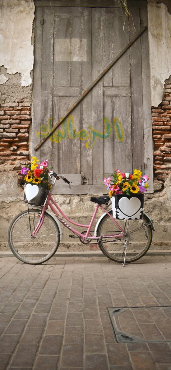 单车 花篮 装饰 自行车