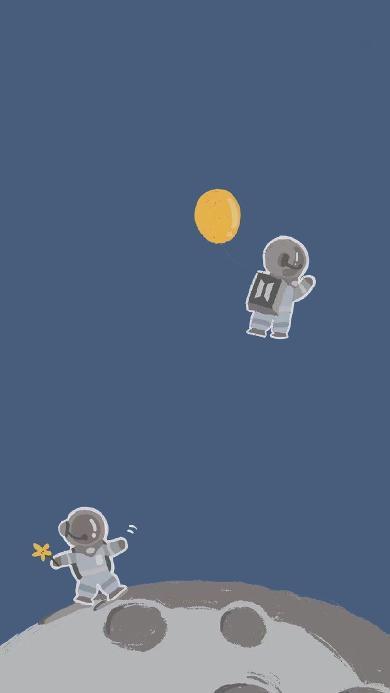 插画 宇宙 宇航员 绘画