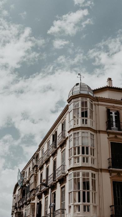 蓝天 白云 建筑 欧式