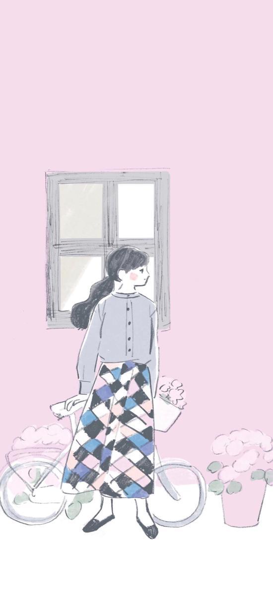 女孩 插画 粉色系 少女 插画师:252percent 1