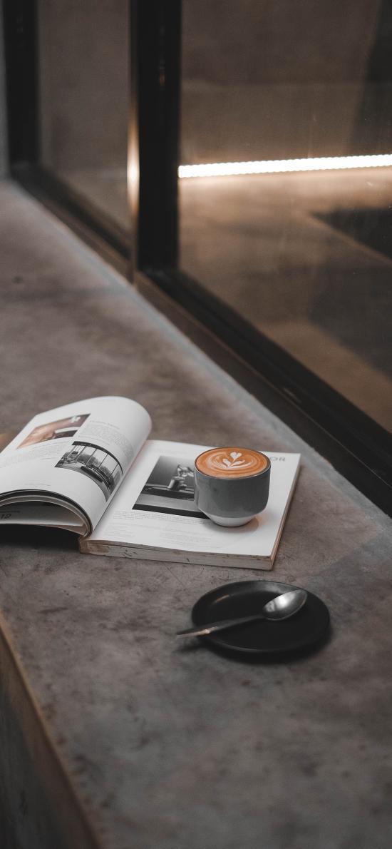静物 咖啡 书籍 书本