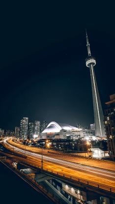 城市 车道 灯光 夜景