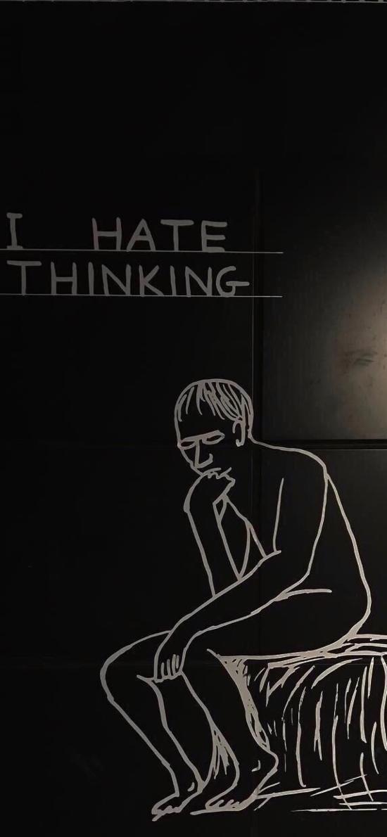 简笔画 人物 I hate thinking
