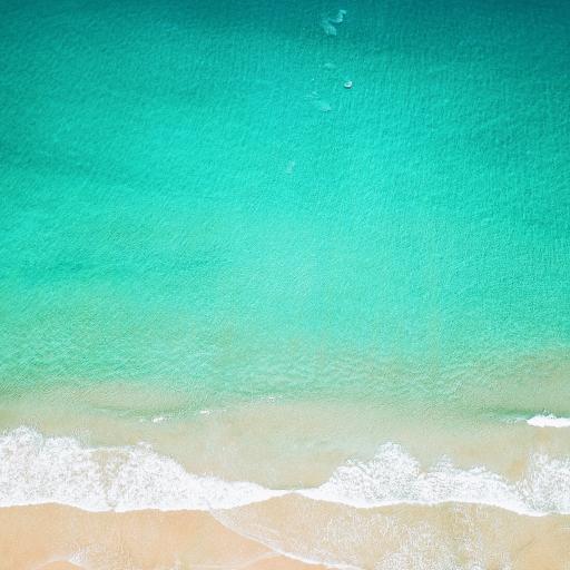 海边 海浪 大海 渐变