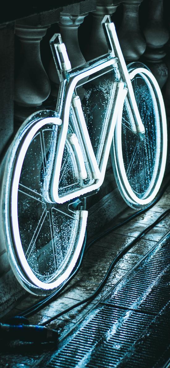 自行车 单车 灯管 照明 创意