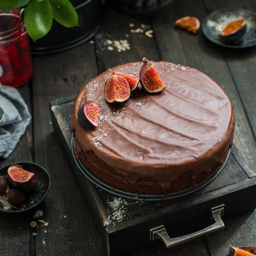 甜品 蛋糕 无花果 水果 巧克力