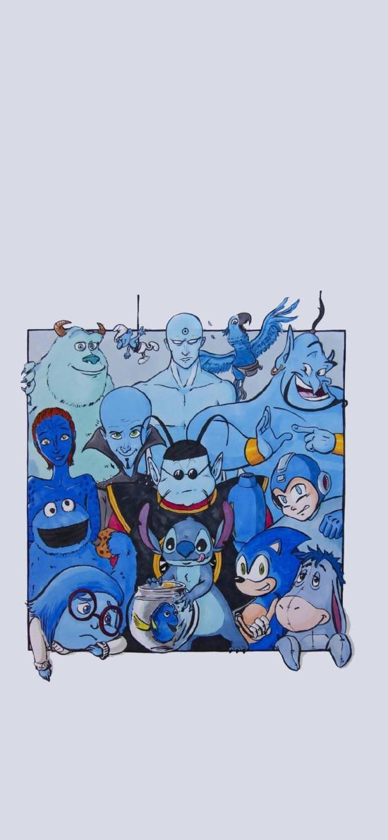 迪士尼 蓝精灵 史迪仔 灯神 合集