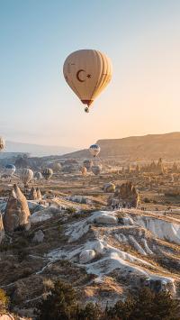 热气球 地貌 景点 景观