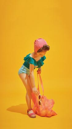 童模 小女孩 写真 水果道具