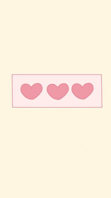 爱心 可爱 简约 排列