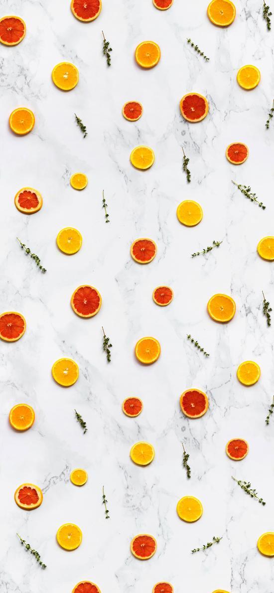 平铺 水果 西柚 橙