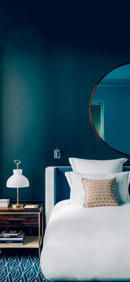 家居 床铺 台灯 现代