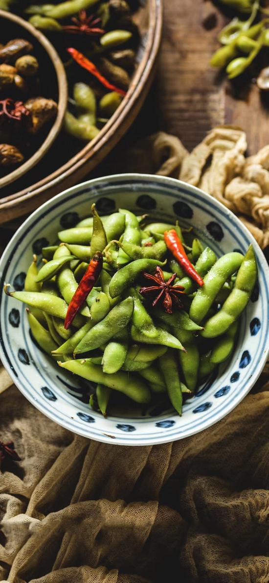 食材 毛豆 卤味 八角 辣椒