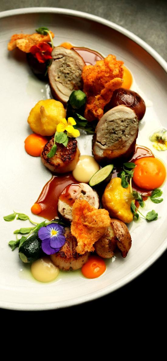 餐点 肉食 蔬菜 精致 摆盘