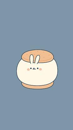 卡通 白兔 夹心饼干 趣味