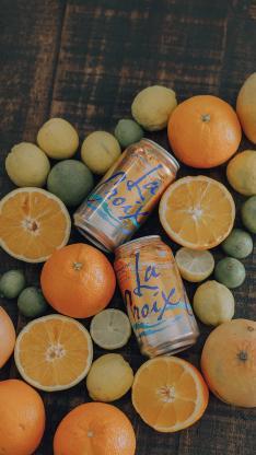 汽水 柑橘 橙 青柠