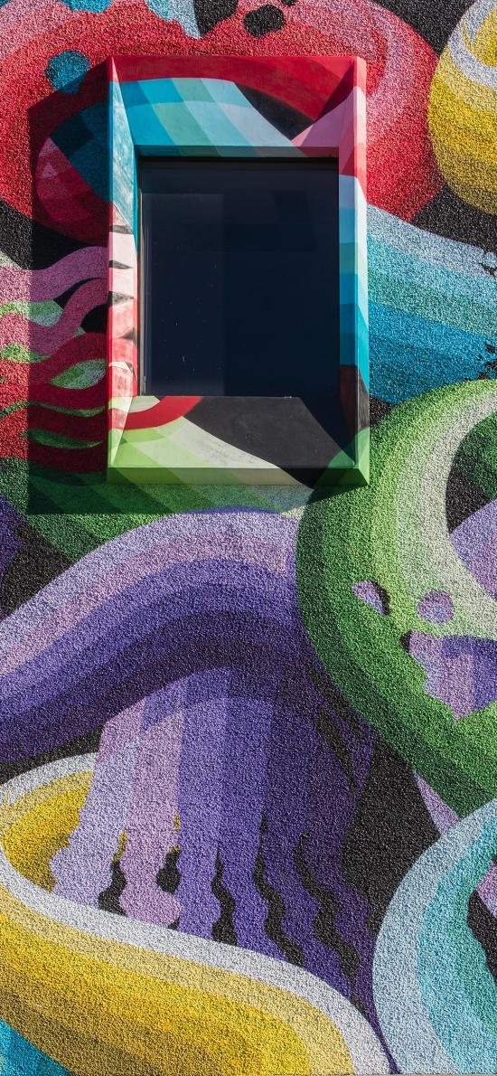 墙绘 涂鸦 艺术 色彩