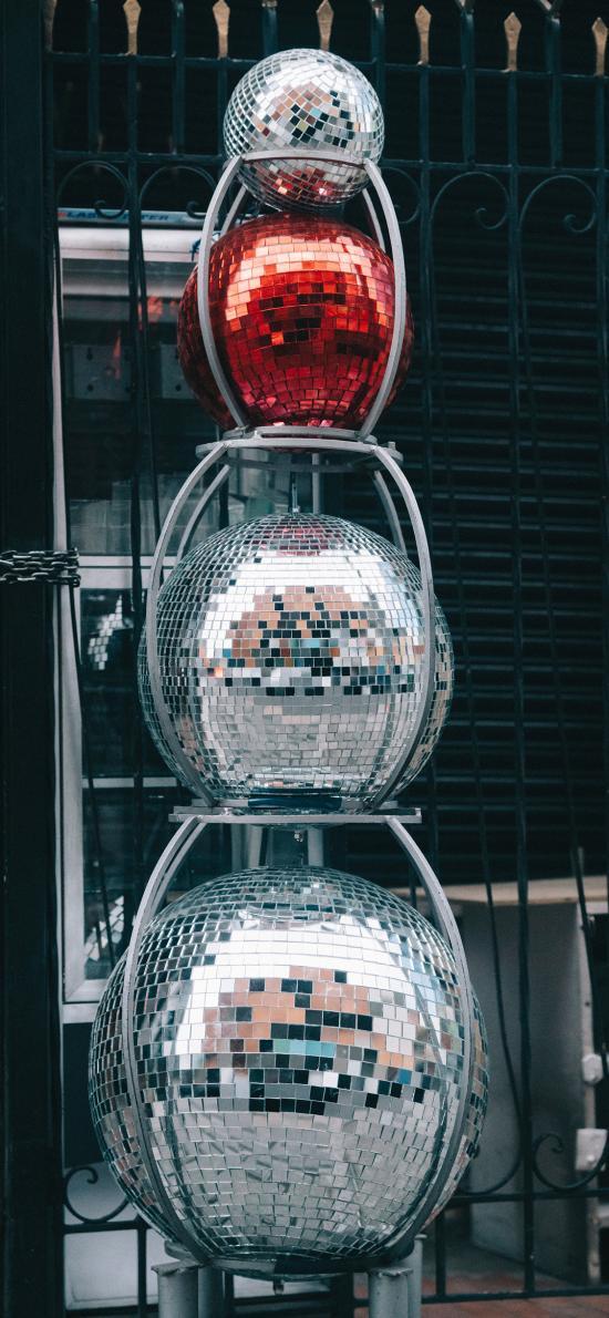 球体 亮片 装饰 反光