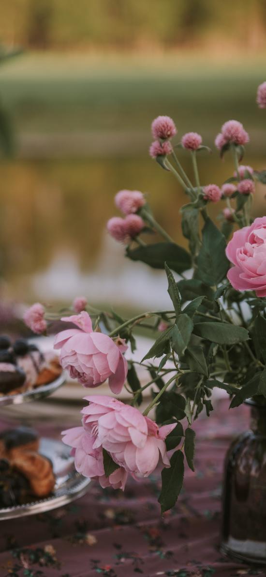 插花 鲜花 芍药 粉色