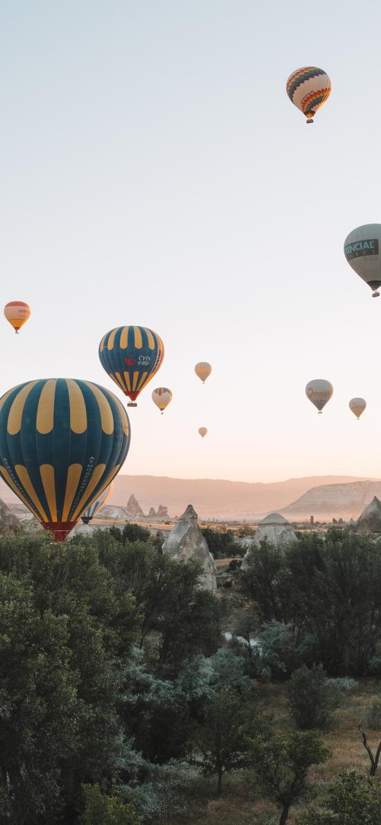 热气球 景点 地貌 游玩