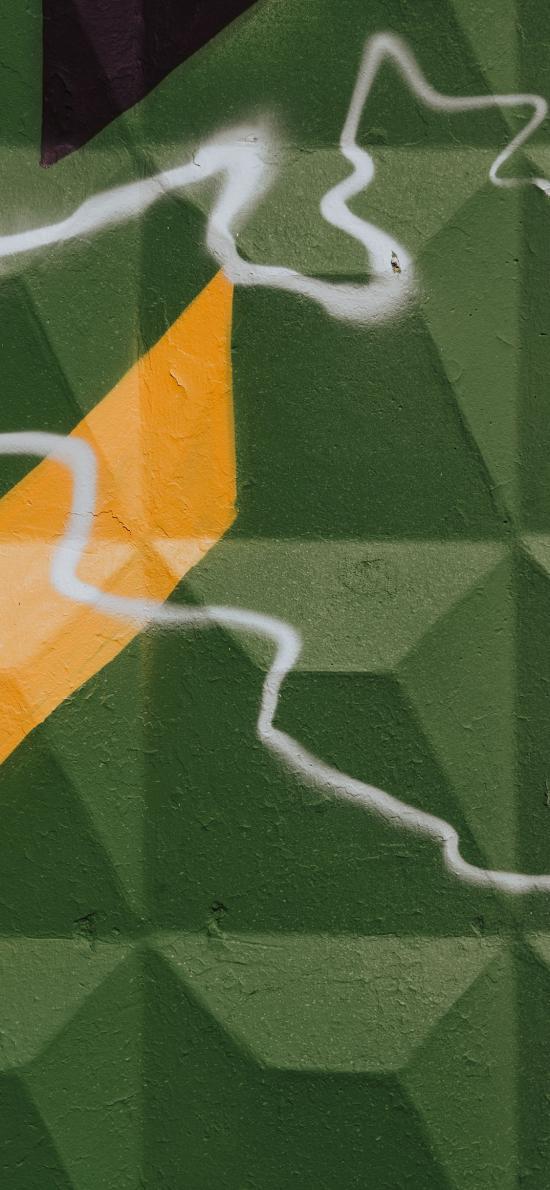 墙壁 绘画 线条 绿色