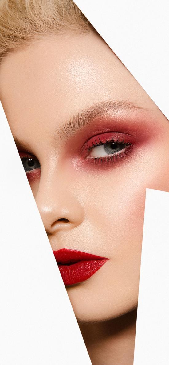 欧美美女 模特 写真 妆容