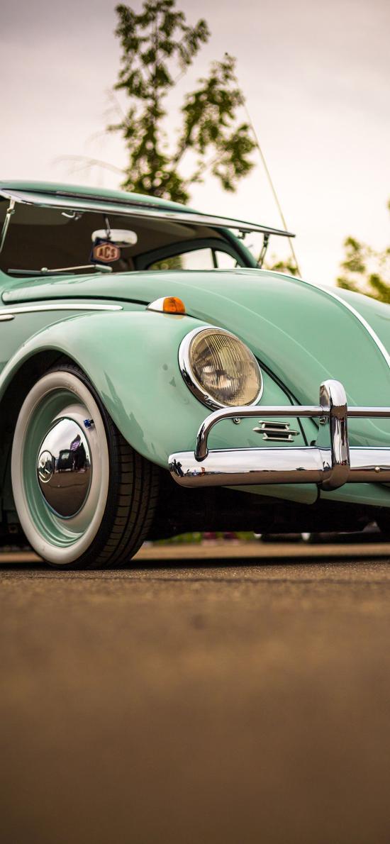 汽车 复古 蓝色 驾驶