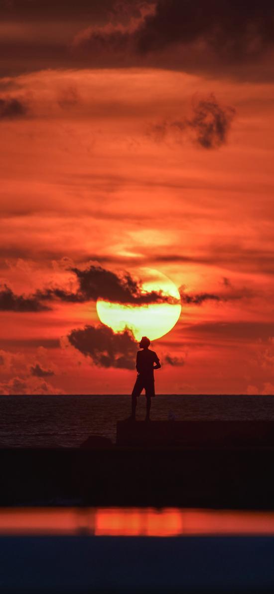 日落 晚霞 唯美 美景
