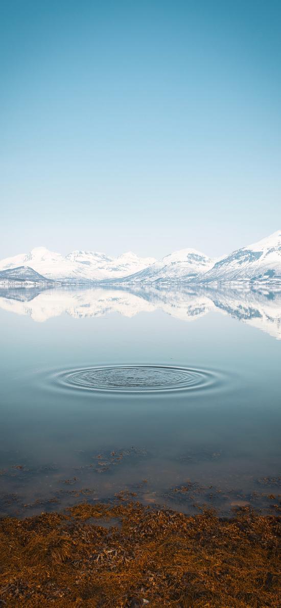 自然 雪山 湖泊 壮观 美景
