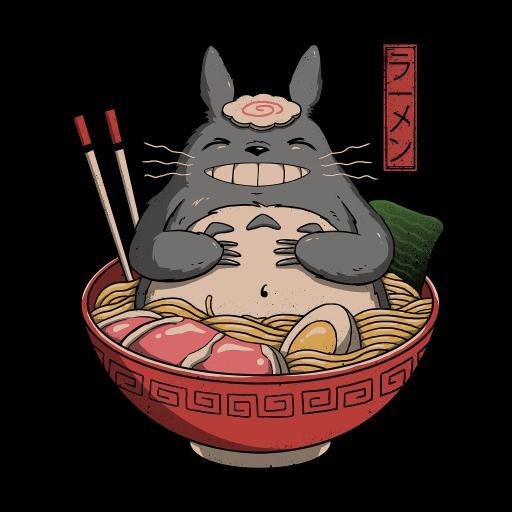 龙猫 拉面 可爱 卡通