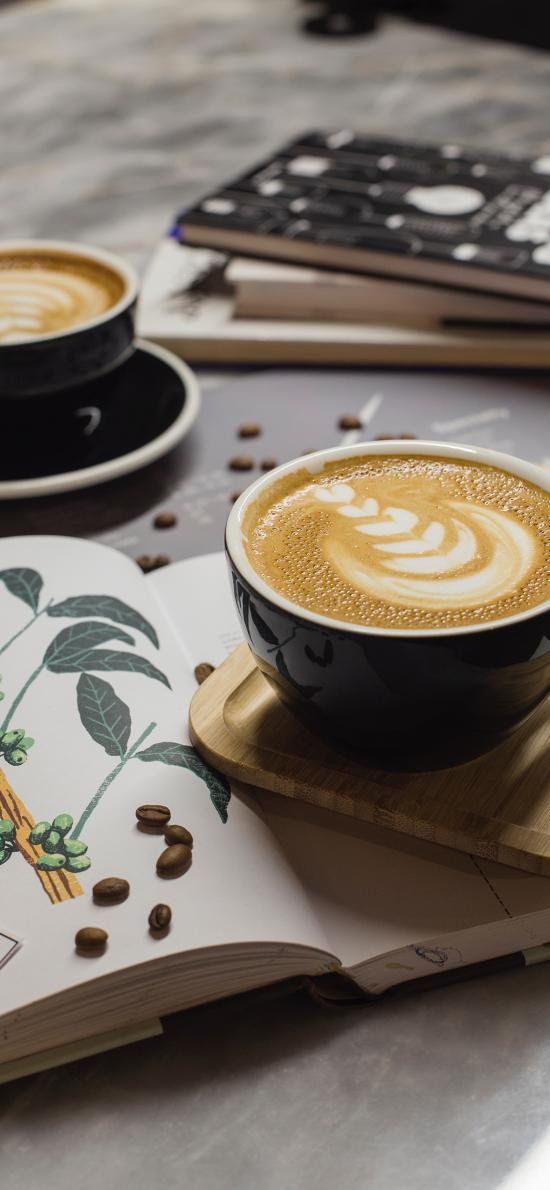 咖啡 书籍 咖啡豆 静物