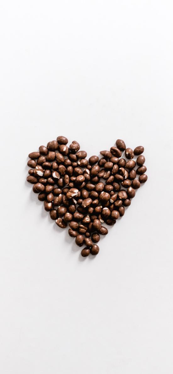 零食 甜食 巧克力豆 爱心